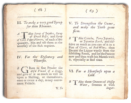 'Medicinal Experiments' by Robert Boyle, London, 1692 (LO4365).