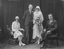 Cunningham wedding portrait, c. 1925. NLI ref. P_WP 3730
