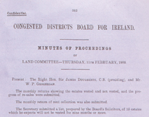 Minutes of the Congested Districts Board for 1909