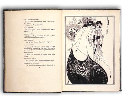 """Salome"" by Oscar Wilde, 1894. Illustrations by Aubrey Beardsley."