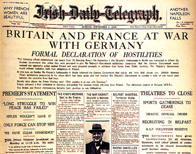 Irish Daily Telegraph, 04 September 1939