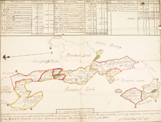 Map and survey of the parish of Mohill, county Leitrim. NLI Ref: Leitrim papers, maps 1-18