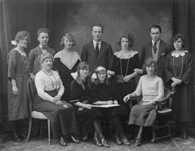 Mrs Morrissey and her family, NLI ref. P_WP 3142