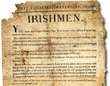 A proclamation issued by the French force which landed near Killala in 1798.