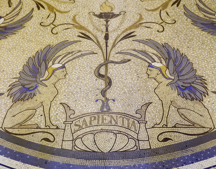 Front hall mosaic (detail).