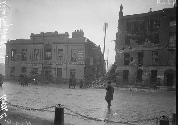 [Head office of ITGWU, destroyed following the 1916 rising]