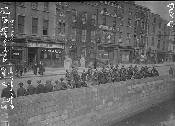 [Troops being marched to barracks, 1916]