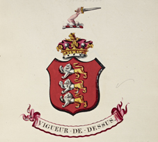 Arms of the Marquis of Thomond, knighted and invested with the Order of St Patrick, 1809. NLI Ref: GO MS 100