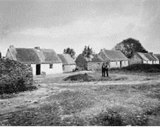 Congested village of Graigue, county Galway. NLI Ref: CDB6