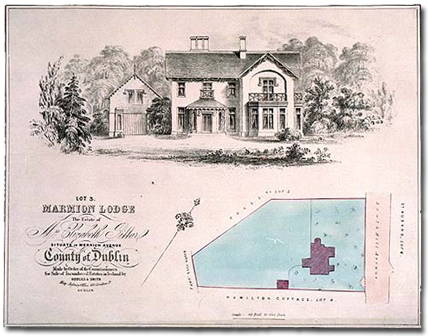 Map of Lot 3. Marmion Lodge, made for the Commissioners for Sale of Incumbered Estates.