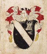 Draft arms for Plunket, c. 1600. NLI Ref: GO MS 84