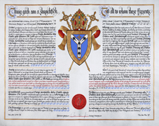 Confirmation of arms to the United Dioceses of Dublin and Glendalough, 2016