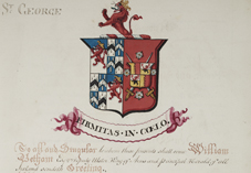 Grant of arms to Arthur French St George, 1811. NLI Ref: GO MS 106