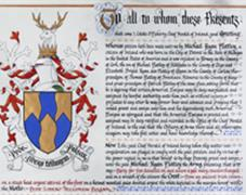 Grant of arms to Michael Flatley, 2015