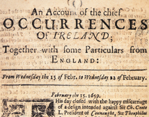 An Account of the chief Occurrences of Ireland, 15 - 22 February 1659