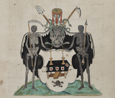 Illustration from Funeral Entries, Volume 3, c. 1604-1622. NLI Ref: GO MS 86