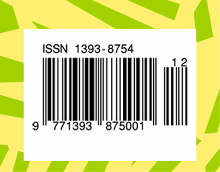 An example of an ISSN barcode.